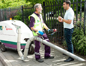 Veolia Haringey street cleansing crew talking to the public