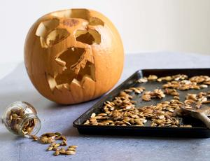 Pumpkin and roasted seeds