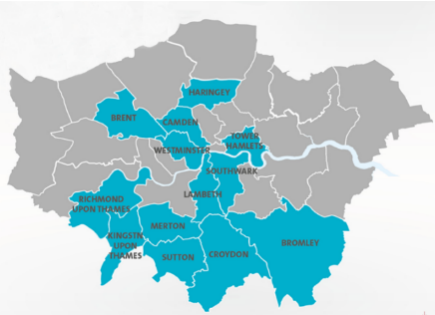 Boroughs of London where Veolia operate waste management.