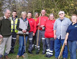 Veolia nottinghamshire helping out in the community
