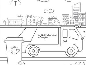 Colour the street colouring sheet