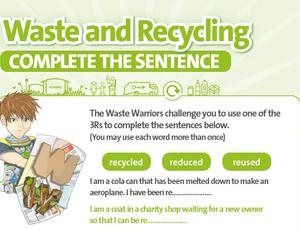 Nottinghamshire Recycles Waste Warriors - Complete Sentences