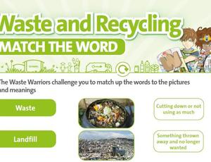 Nottinghamshire Recycles Waste Warriors - Match the Word