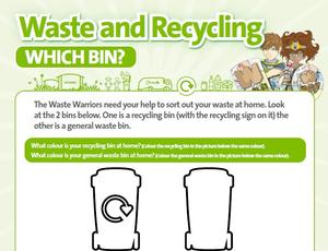 Nottinghamshire Recycles Waste Warriors - Which Bin