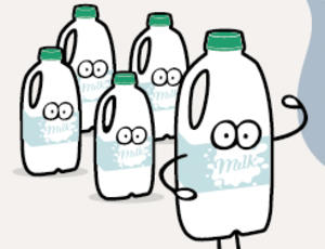 Follow the journey of a milk bottle from home through to recycled