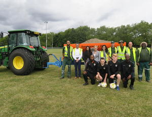 Veolia UK _ World class stadium soil makes pitches perfect for London players
