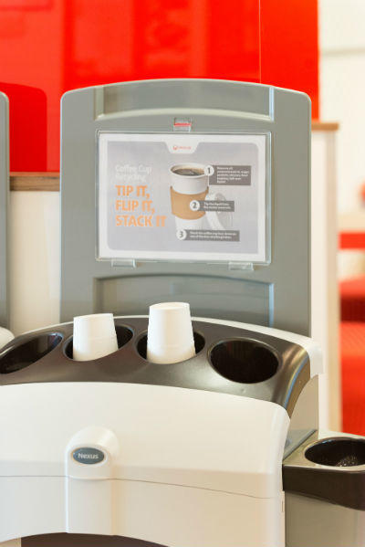Coffee cup recycling | Custom designed bin for your office | Veolia UK