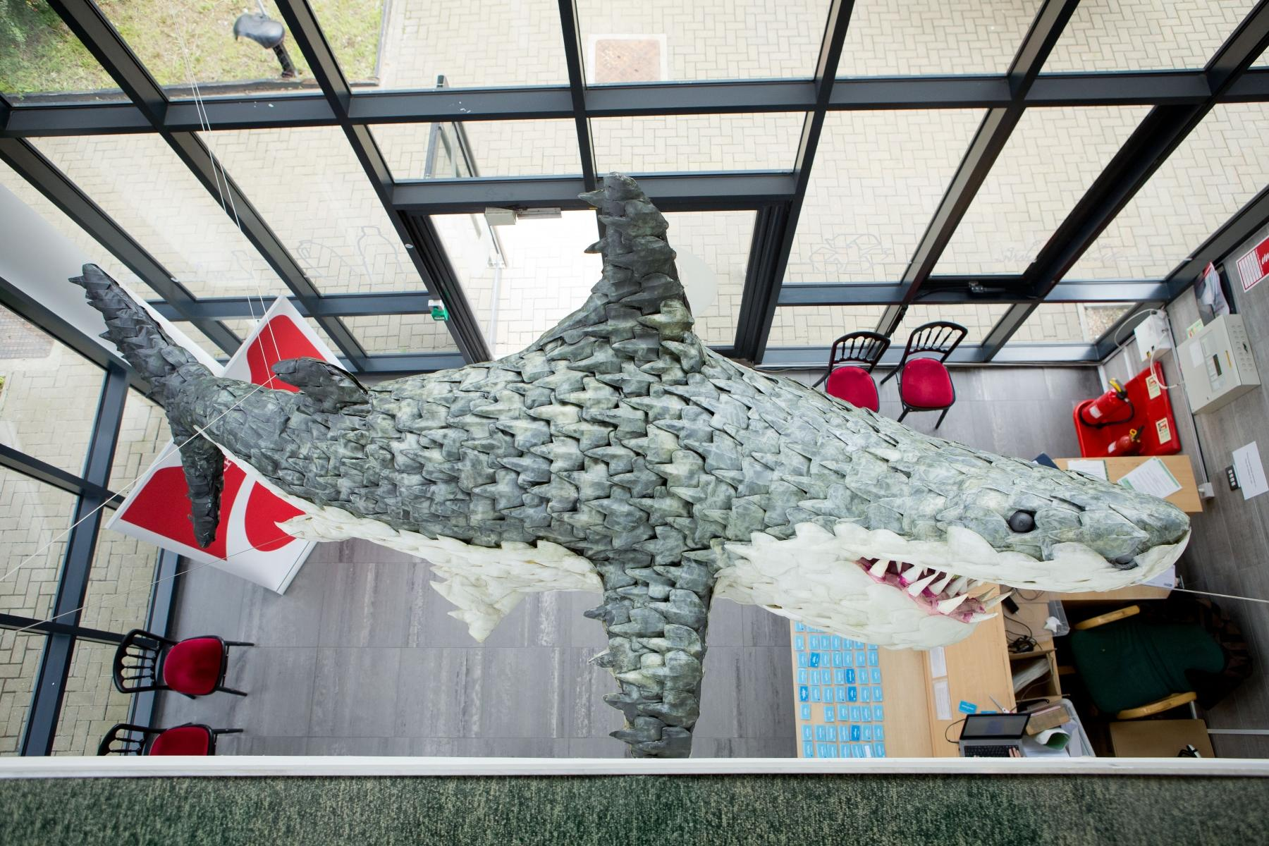Veolia UK | Bruce the recycled shark in Dagenham