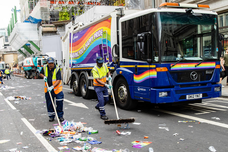Veolia UK _ Pride's most colourful clean up
